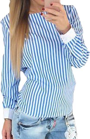 Blusa Mujer Primavera Otoño Camisas Elegantes Moda Vintage ...