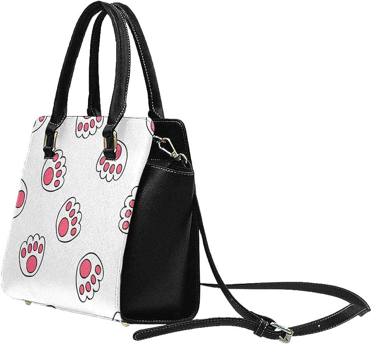 INTERESTPRINT Paw Pattern Rive Shoulder Bags Satchel Handbags for Women Fashion Ladies