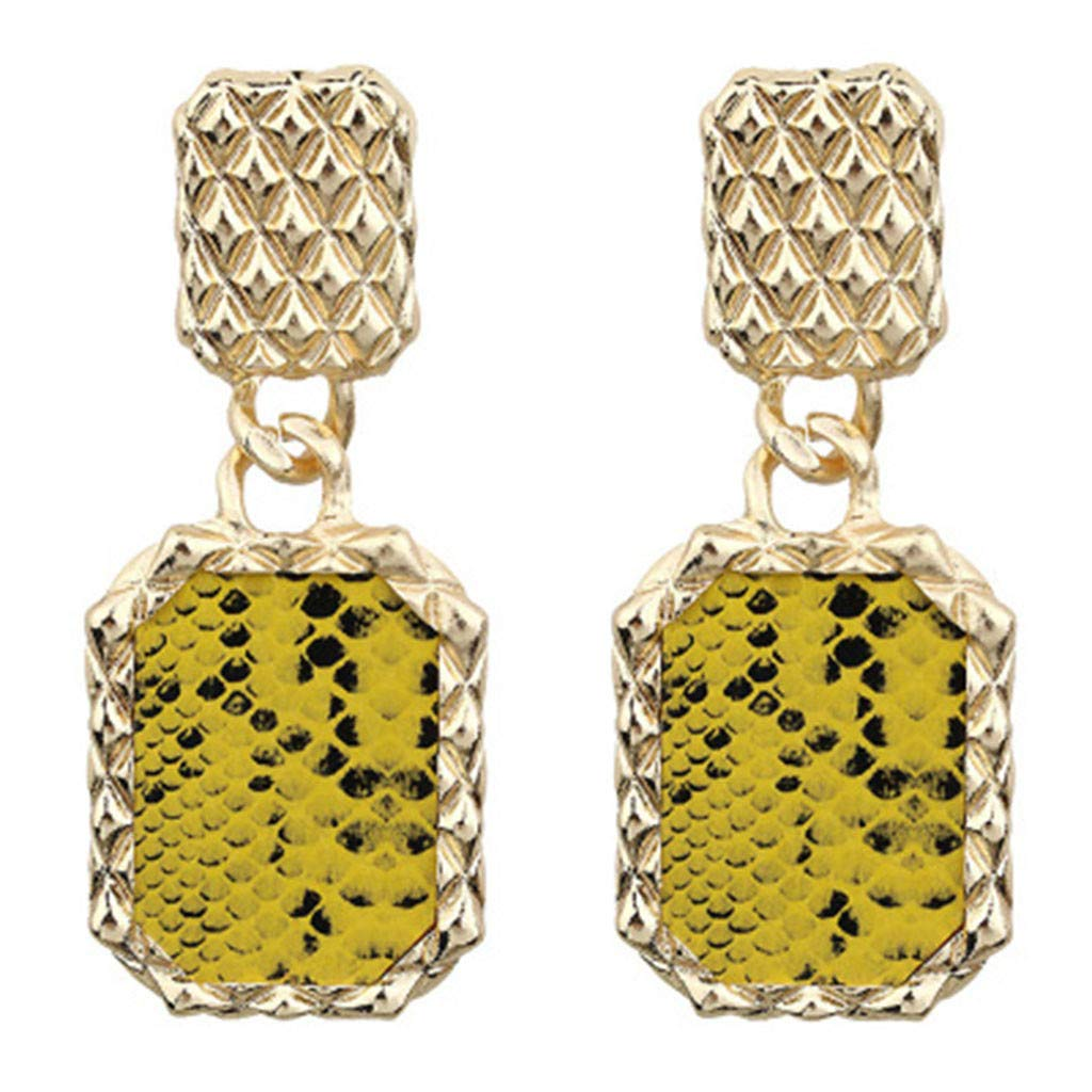 Toponly Rock Punk Metal Retro Ladies Earrings Stud Trend Sequins Snake Pattern Pendant Jewelry