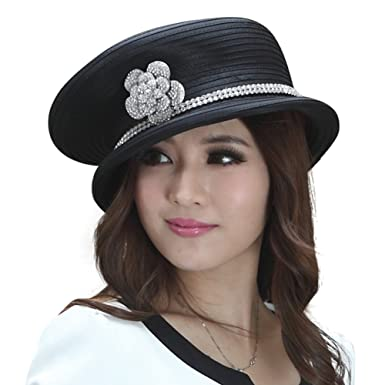 671b97e0fb1f1 June s young new fashion British style hat captain hat fashion top hat ( black)