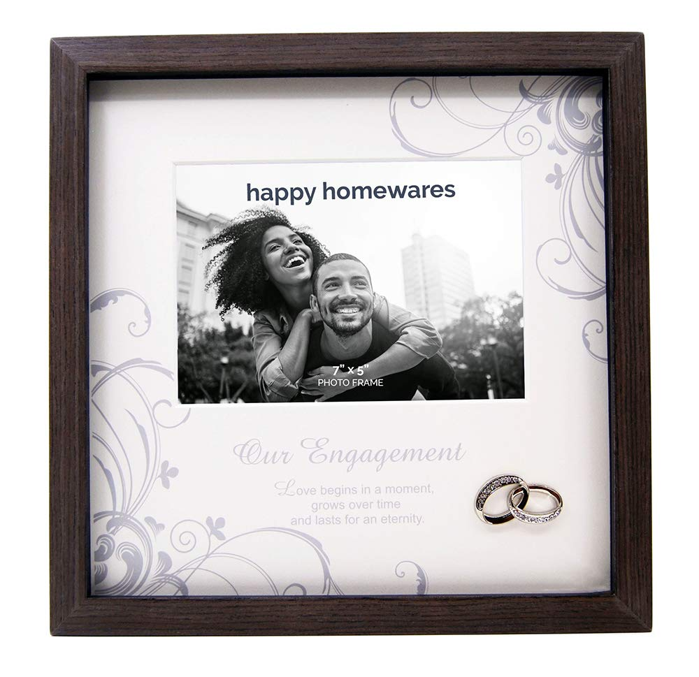 Sweet and Simplistic Glass Our Engagement 7 x 5 Photo Frame by Haysom Interiors