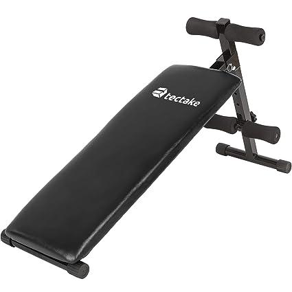 TecTake 401078 - Banco de Musculación 120x33x63 cm, Pesas ...