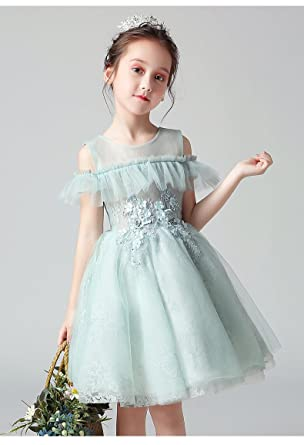 Girls' Clothing (2-16 Years) Able H&m Girls Pink Lace Dress 6-8y Wide Selection;