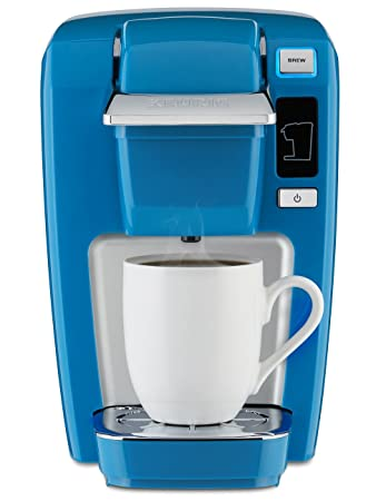 keurig k15 single serve compact kcup pod coffee maker true blue - Kcup Coffee Makers