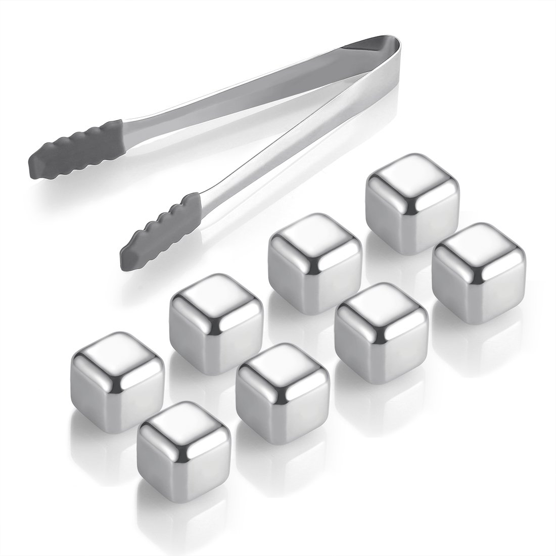 Stainless Steel Whiskey Ice Cubes Better-Nee Ice Stones Drink Coolers Freezing Storage Tary and Tongs Reusable Wine Chillers Chilling Rocks