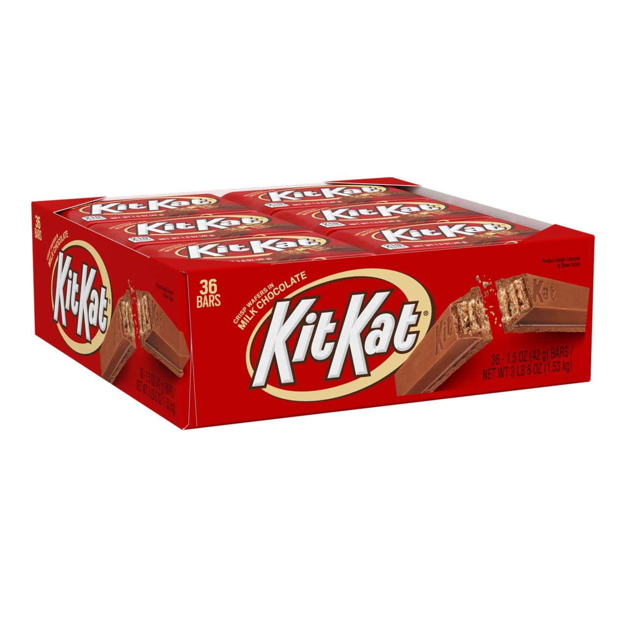 KIT KAT Candy Bar, Milk Chocolate Covered Crisp Wafers, 1.5 Ounce Bar (Pack of 36) by Kit Kat