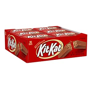 Kit Kat Milk Chocolate Candy Bar, 1.5 Oz Bars (Pack of 36)
