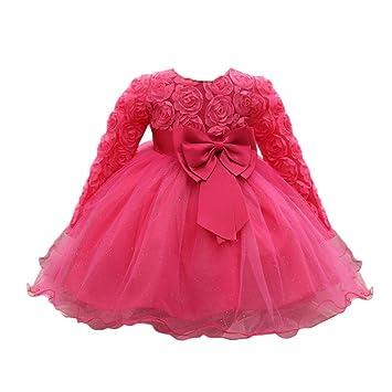 Amazoncom Feitong Flower Baby Girl Long Sleeved Tutu Princess