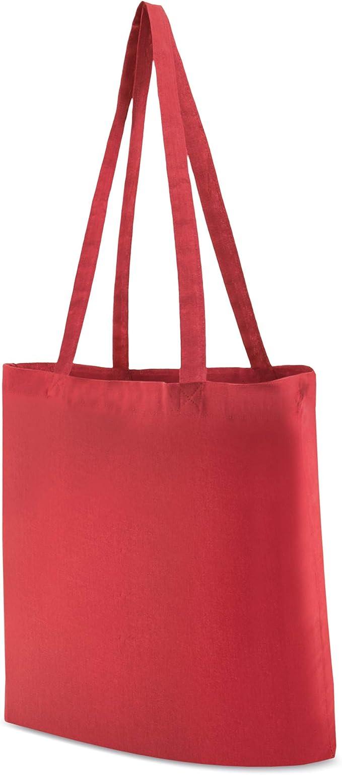 My Custom Style 10 Bolsas de Compras algodón 140gr Rojo 38x42cm ...