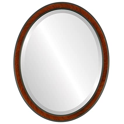 Amazon.com: Decorative Mirror for Wall   Framed Oval Beveled Wall ...