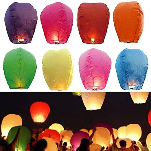 14 opinioni per Goodlucky365 22 PZ Colorate Lanterne Di Carta Cinese lanterne del Cielo Lampada