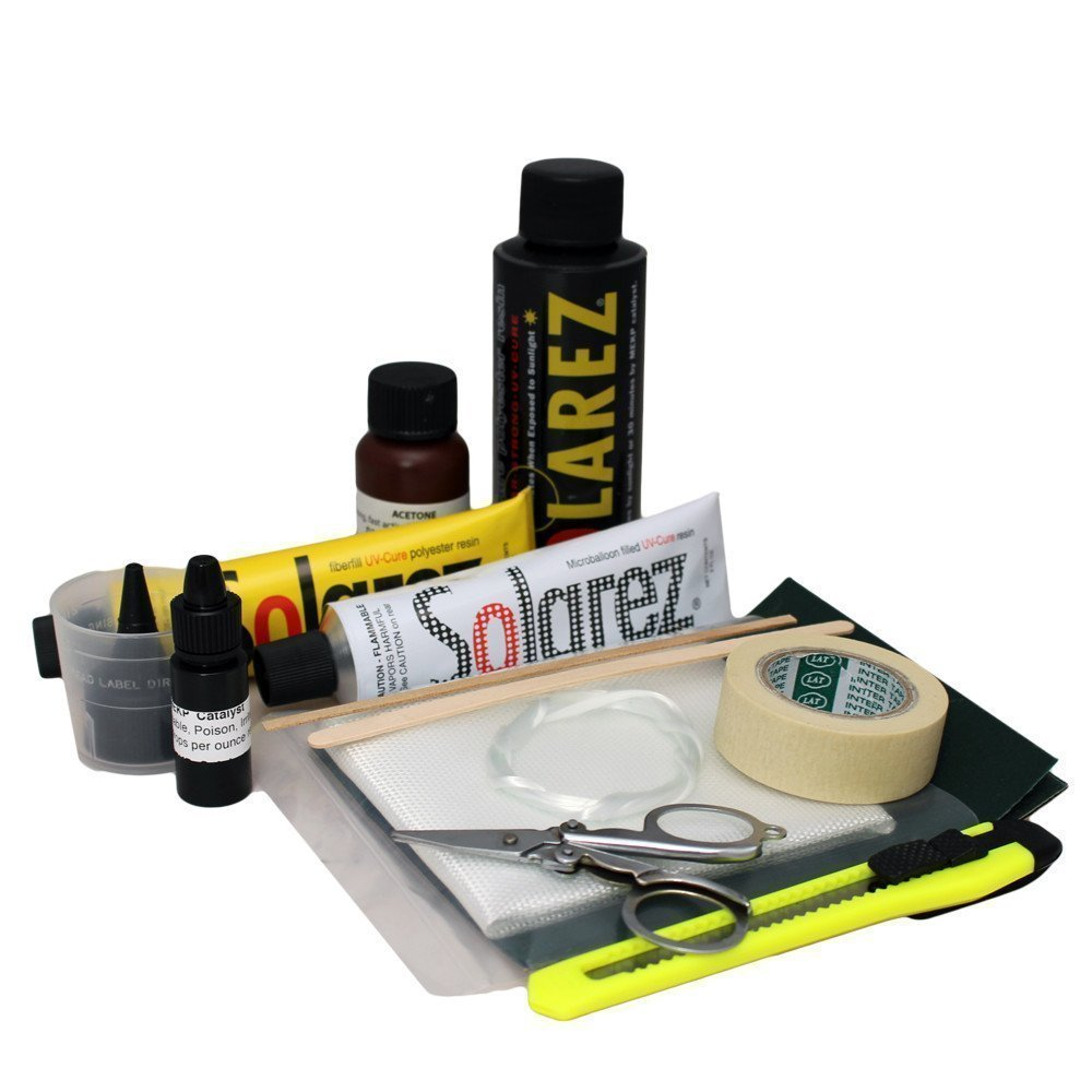 SOLAREZ UV Cure Polyester Pro Travel Kit - Surfboard Repair Kit