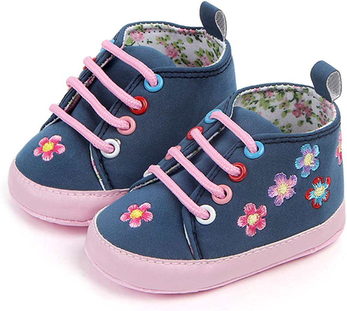 LFHT Baby Toddler High Top Shoes Soft Anti-Slip Sole Newborn Infant First Walkers Sneaker