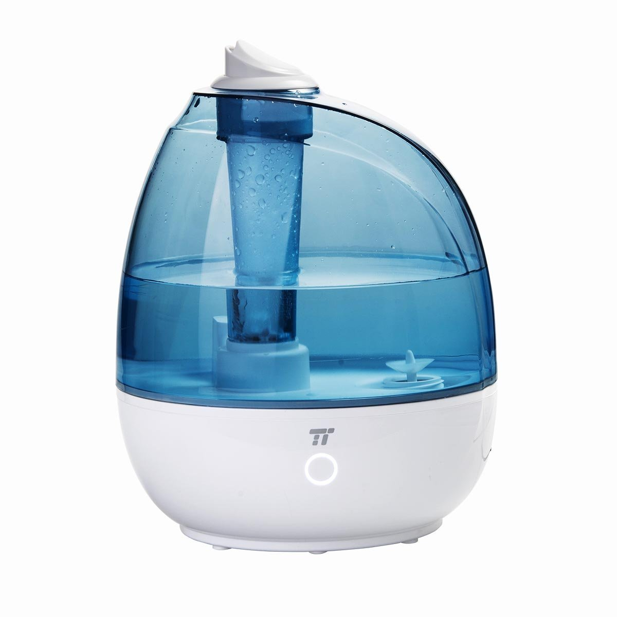 TaoTronics 2L Cool Mist Ultrasonic Humidifiers, Sleep Mode, Filter Free, Quiet for Baby Room & Bedroom (Certified Refurbished)