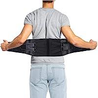 DOACT Faja Lumbar, Cómodo y Transpirable Doble Presurización Cinturón de Faja Ortopedica Lumbar con Correas de…