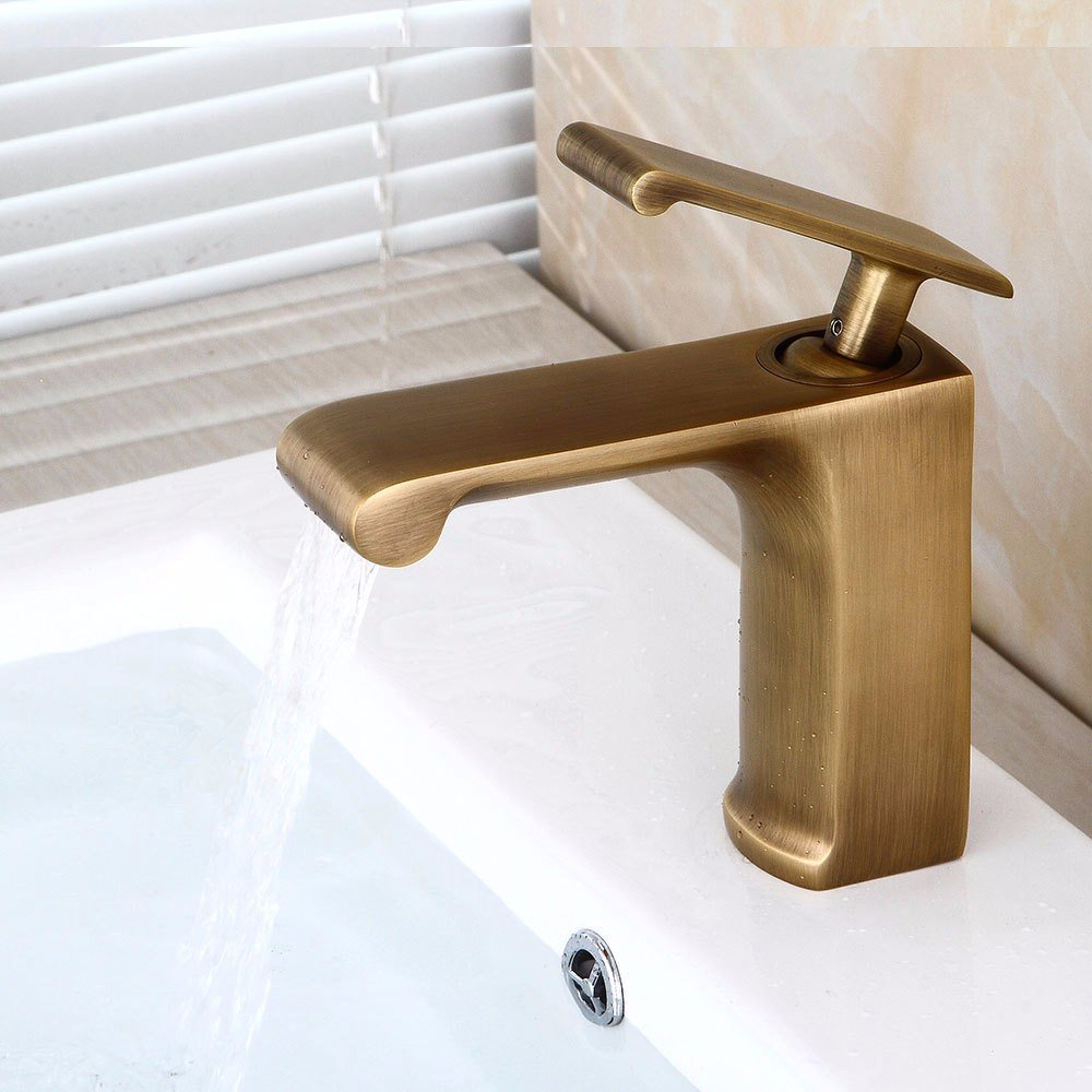 TS-nslixuan Kitchen Sink Taps Tap-Sink Tap Basin Mixer Tap Bathroom European Retro Taps