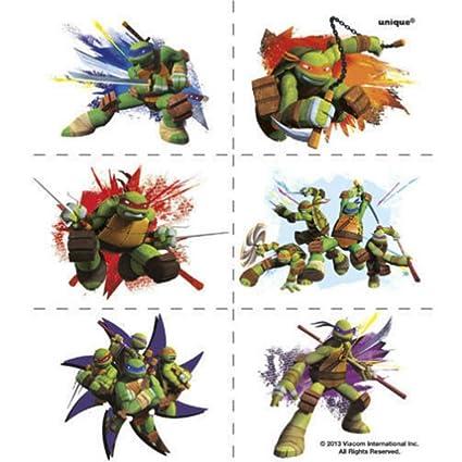 Amazon.com: Teenage Mutant Ninja Turtles Tattoos 24 pack ...