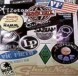 Musical Instrument Gear Equipment Audio Sticker Decal Assortment of 20