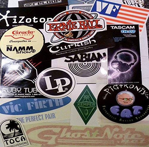 Musical Instrument Gear Equipment Audio Sticker Decal Assortment of 20 from CrashDaddy