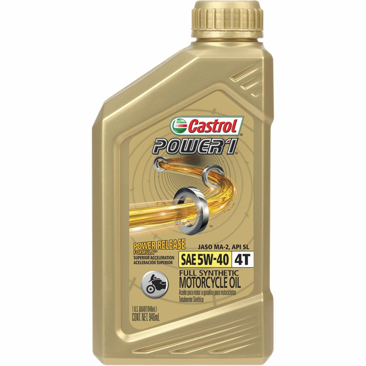 Castrol Power 1 Racing 4T Motorcycle Oil - 5W40