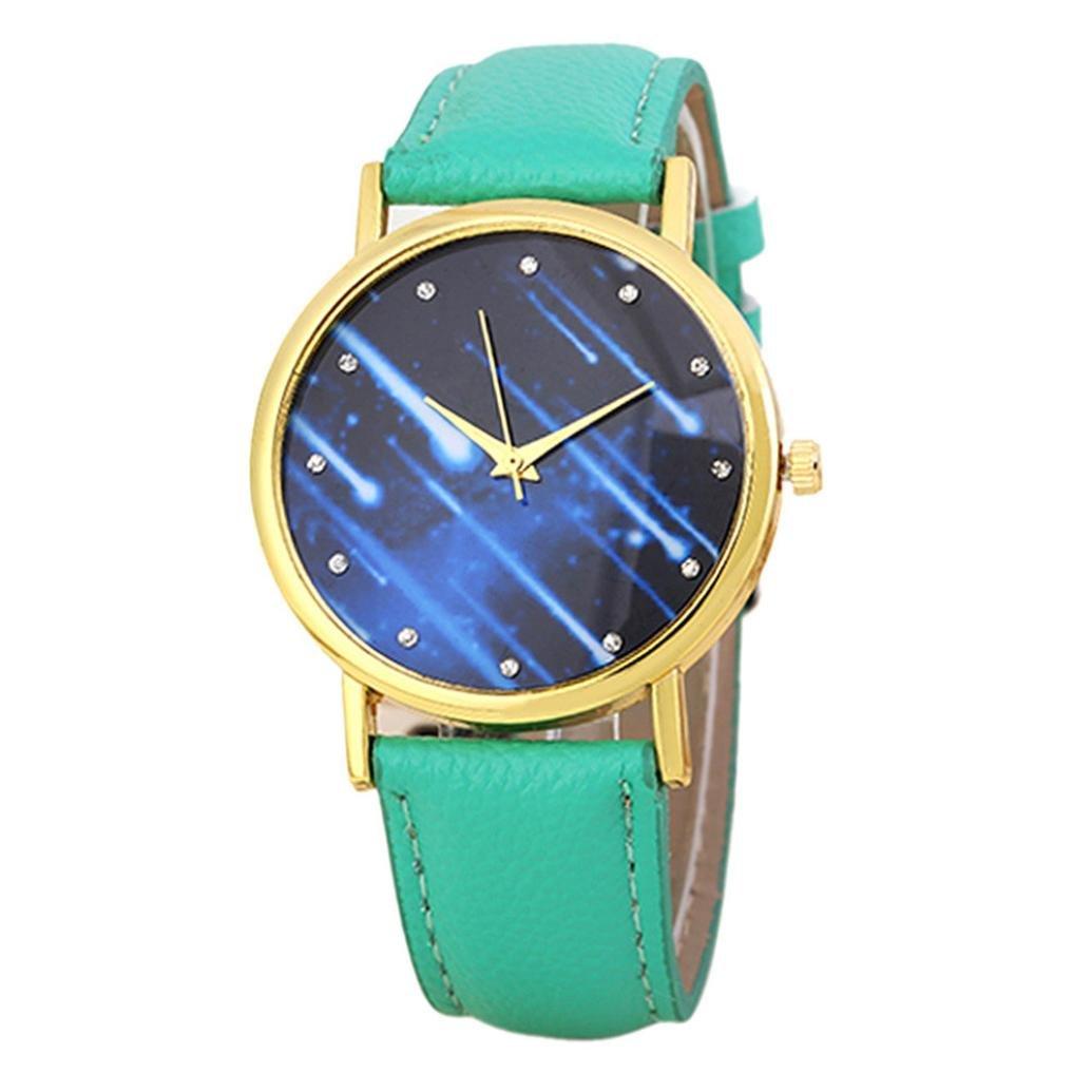 Mandy 2016 Leather Band Analog Quartz Wrist Watch Green