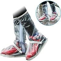Impermeable Zapato covers-1par unisex reutilizable antideslizante lluvia nieve impermeable reutilizable con cierre zapatos PVC para motocicleta viaje ciclismo bicicleta Camping pesca jardín al aire última intervensión hombres mujeres