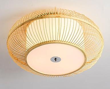 Zhdc® bambus deckenleuchte japanische deckenleuchten runde