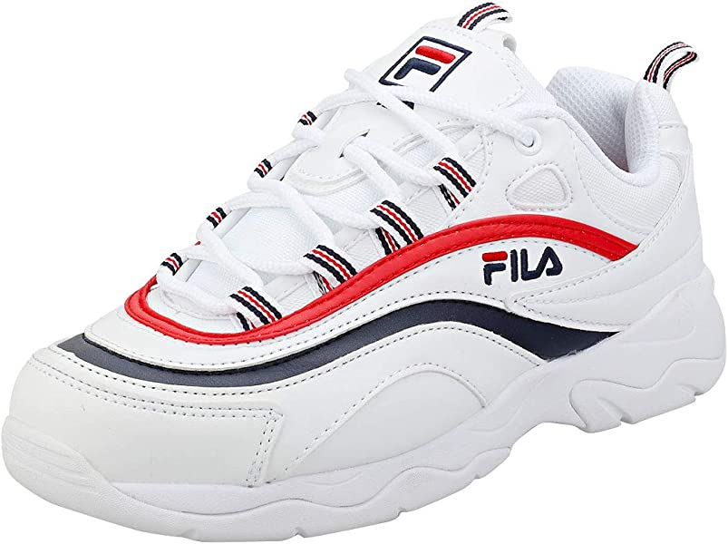 Fila RAY Mujeres Zapatillas White Navy Red - 5 UK