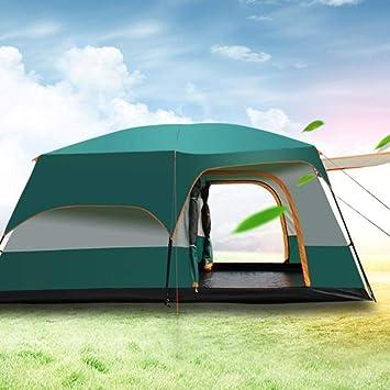 Tienda impermeable para acampar Tienda de campaña a prueba de lluvia de dos habitaciones para exteriores Tienda para acampar 3-5 personas Tienda de una habitación con dos habitaciones grande engrosada: Amazon.es: Deportes