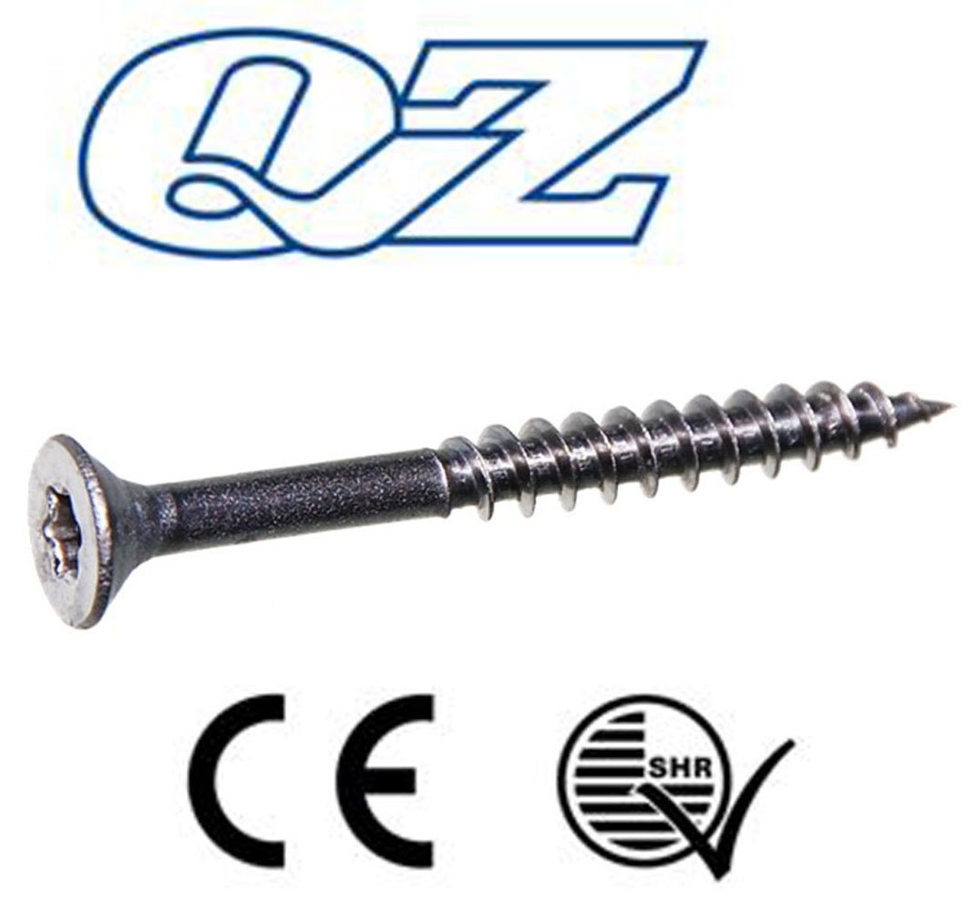 200 viti per truciolato QZ testa svasata 6,0 x 60//36 TX-25 in acciaio inox A2 filettatura parziale
