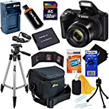 Canon Powershot SX420 IS 20 MP Wi-Fi Digital Camera with 42x Zoom, Black (International Version) + NB-11L Battery & AC/DC Charger + 9pc 32GB Deluxe Accessory Kit w/ HeroFiber Cloth