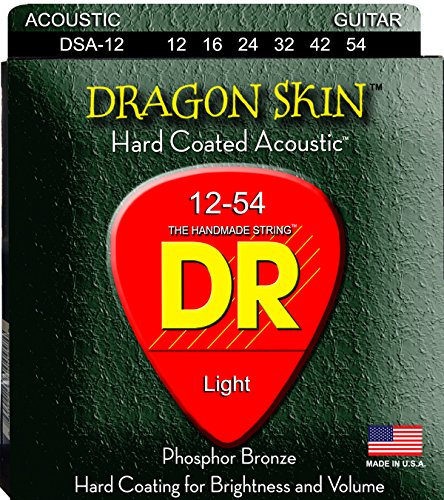 DR Strings DRAGON SKIN Acoustic Guitar Strings (DSA-12)