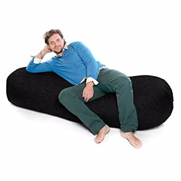 Terrific Jumbo Cord Extra Large 6Ft Beansofa Lounger Beanbag Black Ocoug Best Dining Table And Chair Ideas Images Ocougorg