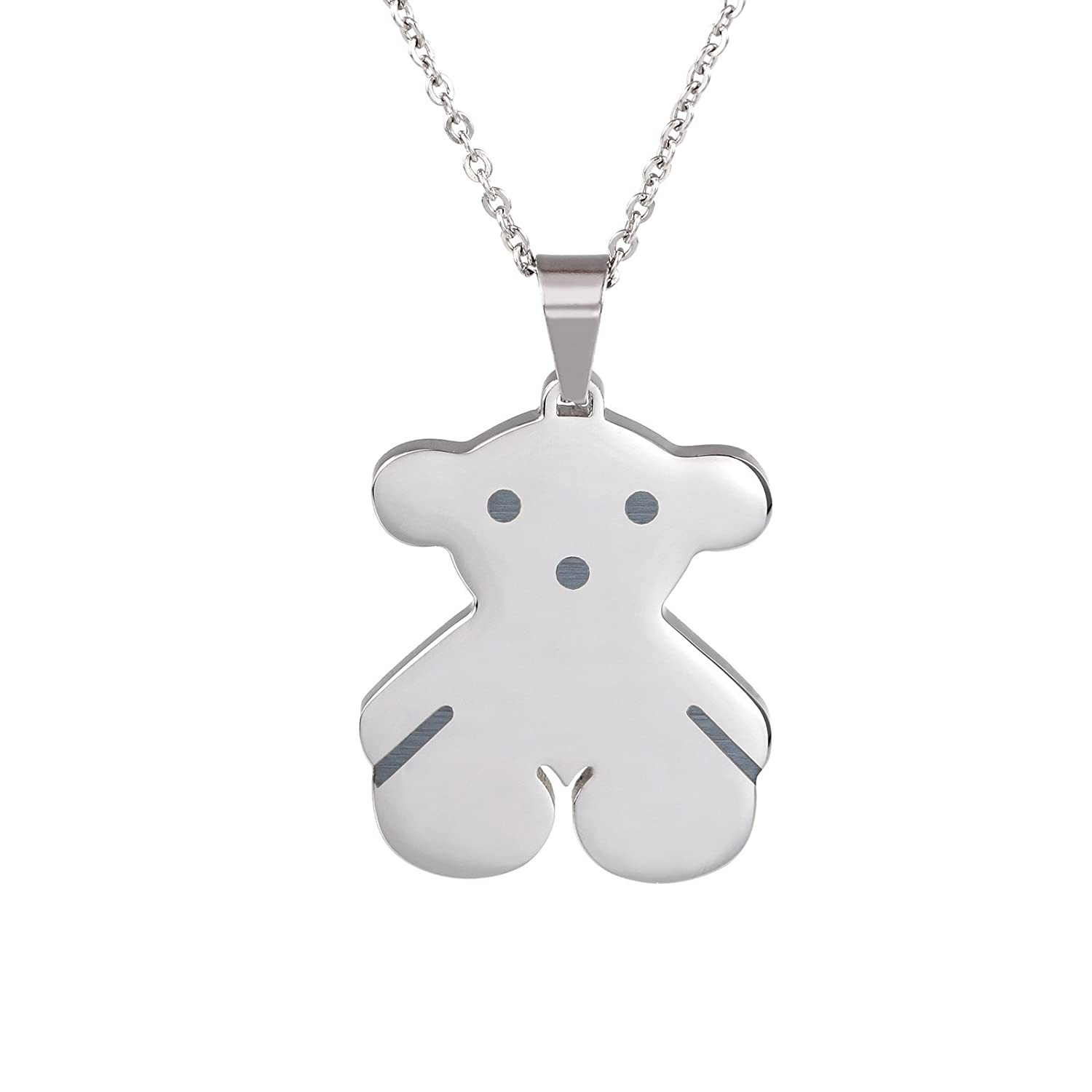 sterling tdw orders diamond silver jewelry on k shipping product over j teddy necklace watches free bear pendant overstock
