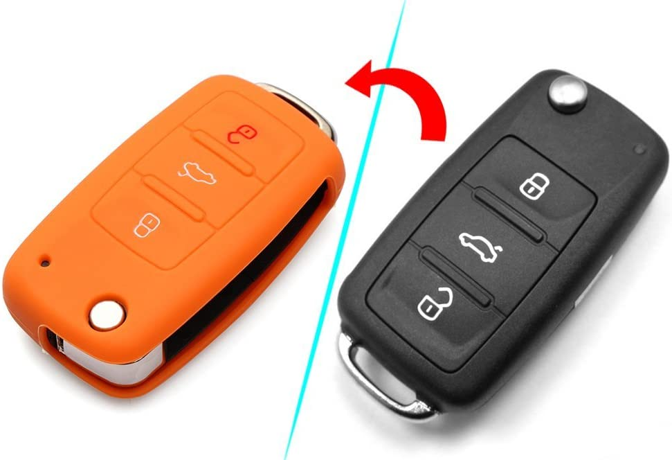 9 MOON Silicone Remote Flip Key FOB Silicone Case Cover for VW Volkswagen New
