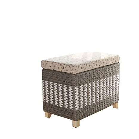 Amazing Amazon Com Storage Cube Ottoman Seagrass Wicker Footstool Creativecarmelina Interior Chair Design Creativecarmelinacom