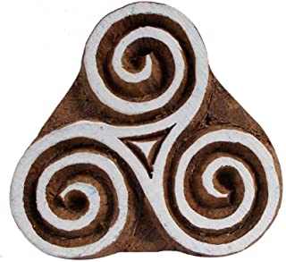 Floral Handcarved Wooden Printing Block Motif Textile Print Stamp Scrapbook Clay Pottery Craft Art Blocks