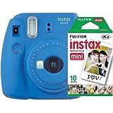 Câmera instantânea Fujifilm Instax Mini 9 Azul Cobalto + Pack 10 fotos