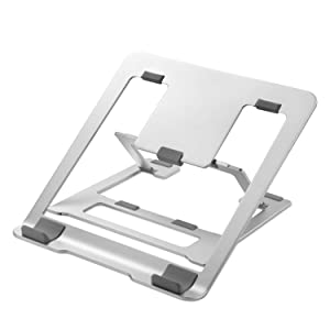 Adjustable Laptop Stand, Lightweight Portable Aluminum Ergonomic Ventilated Foldable Laptop Riser for Laptop MacBook Pro/Air, HP, Dell, Lenovo, Samsung, Acer, Huawei MateBook