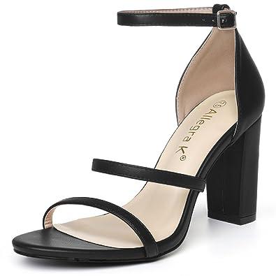 33eb42786cd Allegra K Women s High Block Heel Black Sandals - 6 ...