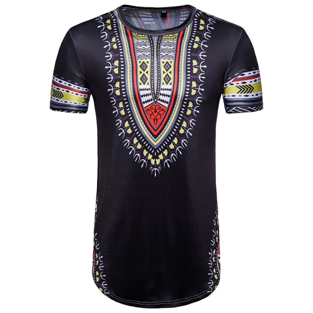 1c1e95ed5ab Top1  African Style! T-Shirt Top Men s Summer Casual Print O Neck Pullover  Short Sleeve Blouse Beautyfine