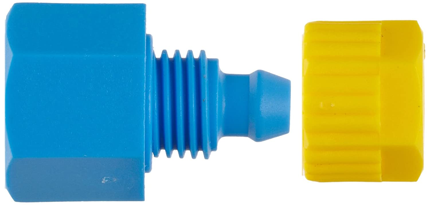 Pack of 5 Tefen Fiberglass Polypropylene Compression Tube Fitting Adapter 5//16 Tube OD x 1//8 BSPT Female Seelye Acquisitions 22046605028 Pack of 5 Yellow//Blue 5//16 Tube OD x 1//8 BSPT Female