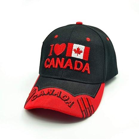 ENGXING Hombres Canadá Gorra Bordado 3D Canadá Gorras De Béisbol ...