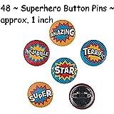 48 ~ Superhero Mini Buttons ~ New