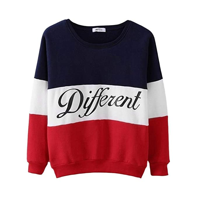 spyman Fashion Letter Different Printed Women Fleeve Hoodies 2018 Spring Long Sleeve Sweatshirt Patchwork O-