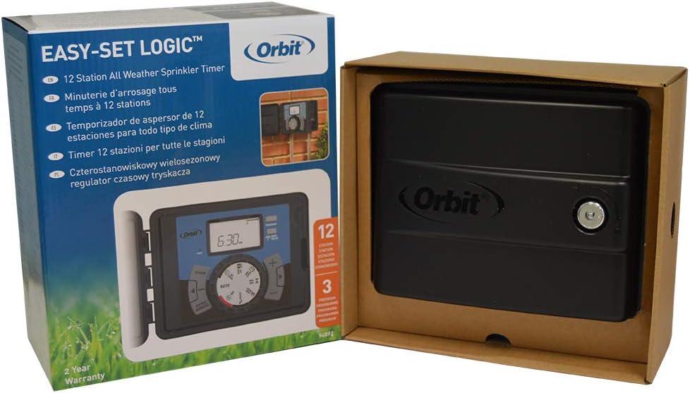 Outdoor Irrigation w// Easy-Set Logic Orbit 6-Station Sprinkler Timer Indoor