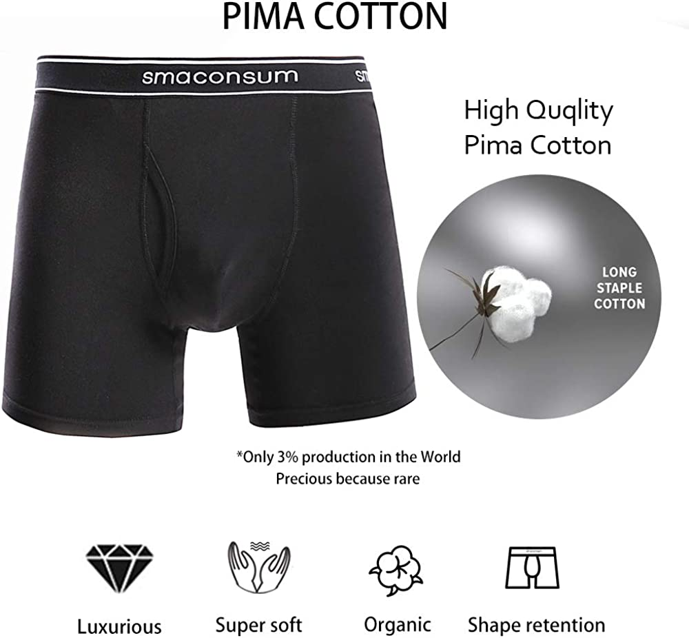 smaconsum Men's Cotton Boxer Briefs 3-6 Pack, Mens Pouch Underwear, S-2XL, Stretch ComfortFlex Waistband No Ride up Briefs. at  Men's Clothing store