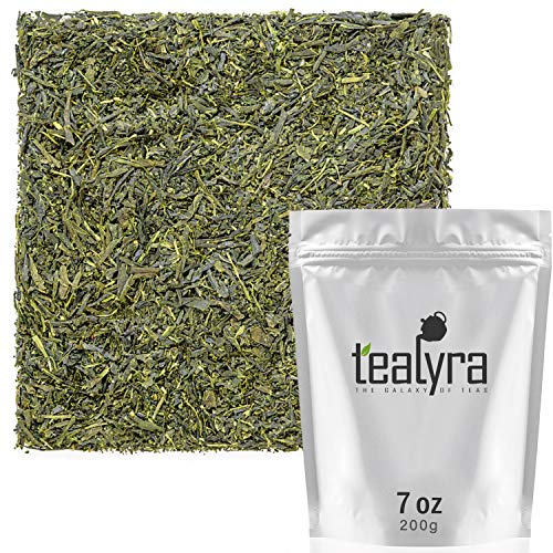 Tealyra - Sencha Kakegawa - Japanese Green Tea - The Best Japanese Tea - Organically Grown in Japan - Loose Leaf Tea - Caffeine Medium - 200g (7-ounce)