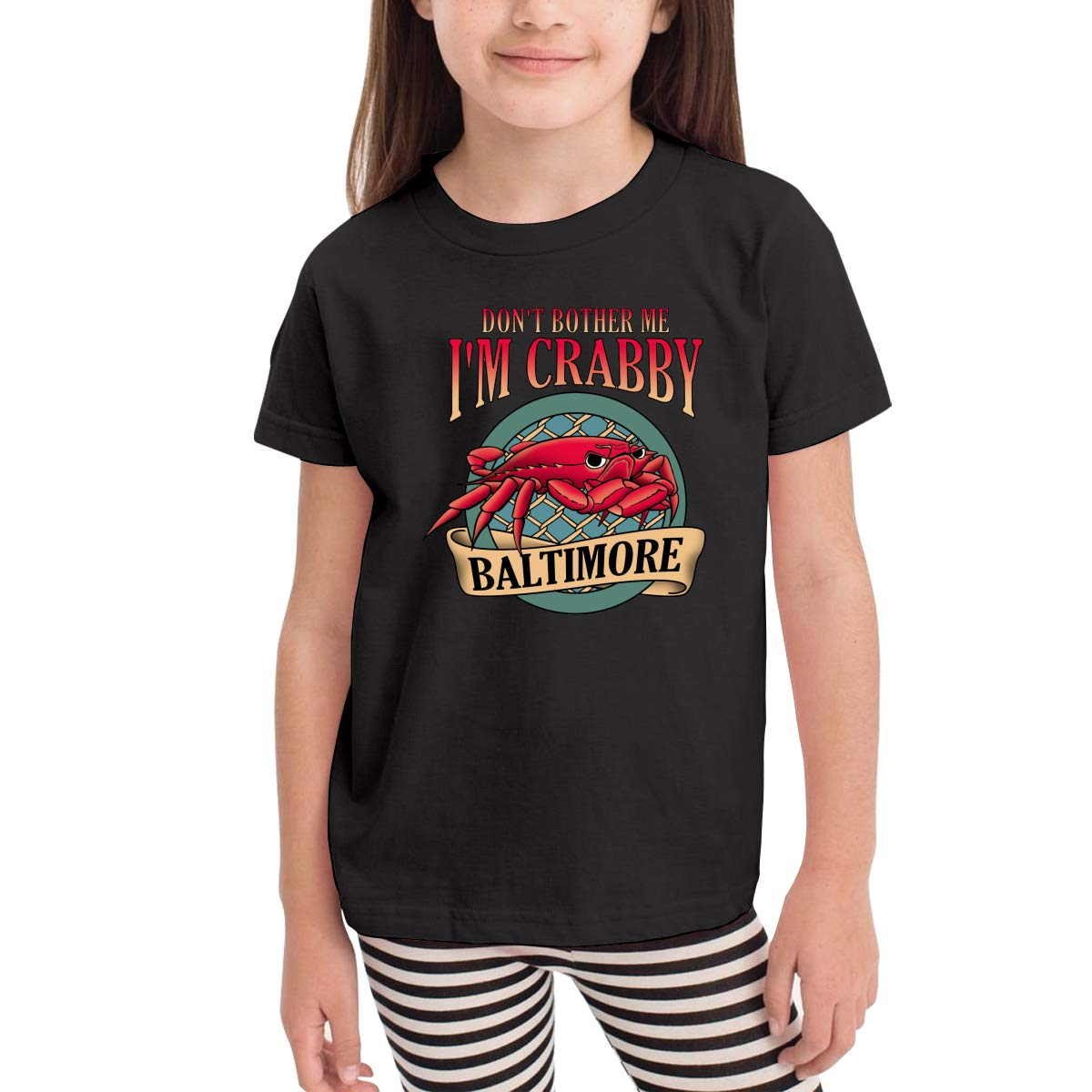 Onlybabycare Dont Bother Me Im Crabby Toddler Boys Girls Short Sleeve T Shirt