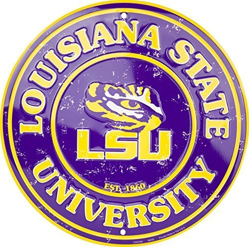 LSU Tigers 12 Inch Embossed Metal Nostalgia Circular (Lsu Metal)
